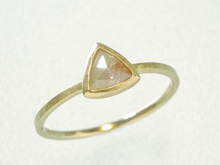 "Japan Quality | 0.41ct Natural Diamond Stacking Ring ""Peach"" 14K YG"