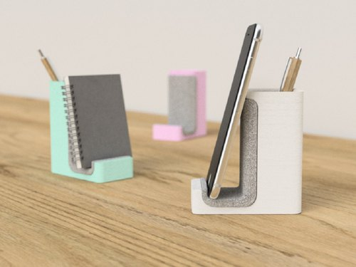 pen and phone holder, pen holder, pen stand, Phone stand, desk organizer