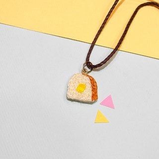 Department of food embroidery cream toast necklace necklace hand embroidery