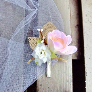 Wedding Boutonniere Silk Wedding Boutonniere Groom buttonhole, Groomsmen B010