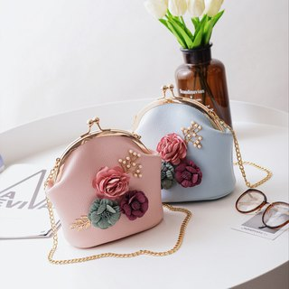 Limited time discount gold package cheongsam bag Messenger bag flower iphone mobile phone bag mobile phone bag Messenger bag storage bag birthday gift custom gift can be printed lettering