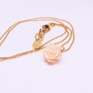Shell Rose Floral Necklace