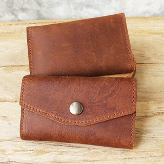 Key Case - H2 (Light Brown / Tan) / Key Holder / Key Ring / Key Bag (Genuine Cow Leather)