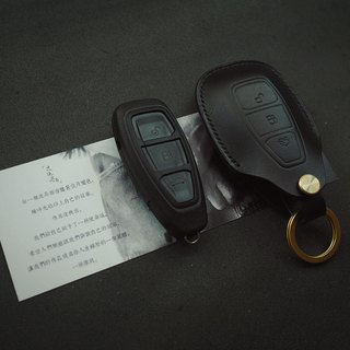 Ford Ford car key set Italy imported black vegetable tanned leather handmade leather design customized
