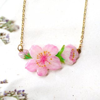 Double layer cherry necklace