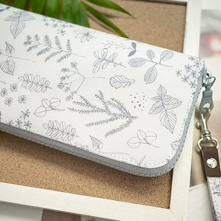 Pencil and flowers. Cloth clip / wallet / wallet / coin purse
