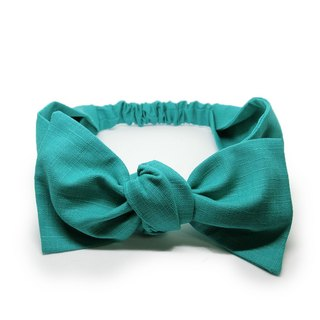 [Art] Mint green bow hair band