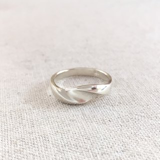 LIM - S wave Streamline Silver Ring Men's Ring