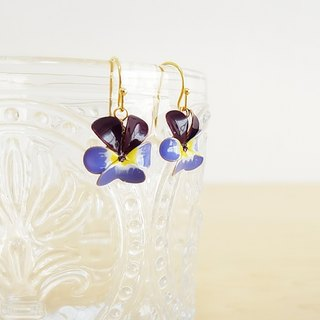 viola pierced earrings or clip-on earrings  <B>
