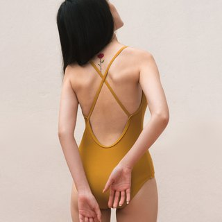 'Mustard Yellow' LIMITED EDITION - Crossback - (Size S) / Swimwear