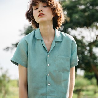 Zuma Button down shirt in Teal Blue