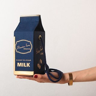 Organic milk pochette  --  GOLD CHERRY