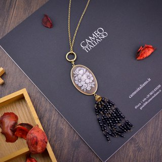 Italian handmade shell carved light jewelry - retro European style necklace-Kafka-CO201