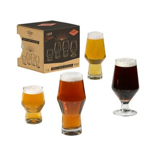 British brand GentlemanHardware high quality glass beer mug group (set of four cups) in stock