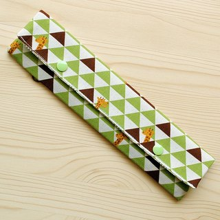 Triangle grid giraffe chopsticks bag chopsticks group _ green