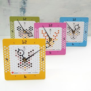 DOT ANIMALS CLOCK