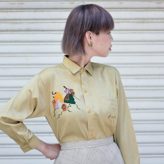 Labor - Light Yellow | Baroque Long Sleeve Vintage Shirt