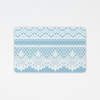 Elegant lace | wafer tour card