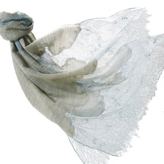 Angel Woolen Indian Cashmere handmade cashmere lace shawl scarf Belle's lakeside time
