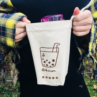 Diagonal backpack / pearl milk tea bags to buy pearl milk tea (shoulder)