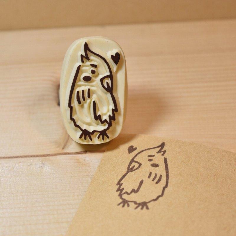 小鸚鵡 手工橡皮印章