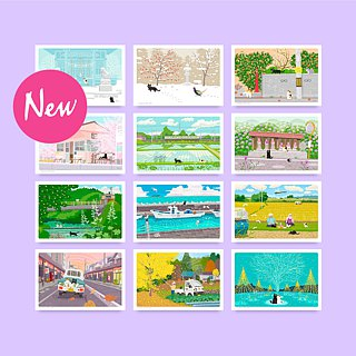 Taberneko postcard design B set (12 pieces included)