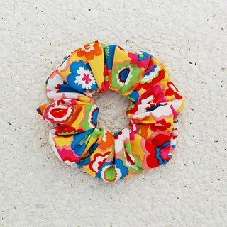 Painted flower hair bundle / large intestine ring donut hair ring