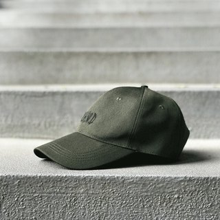 Matchwood Design Matchwood MHWD LOGO SPORT CAP Waterproof and Anti-fouling Old Cap Army Green