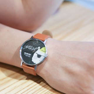 Sing Sing Rabbit x MOZVA stylish Leather Strap watch - brown