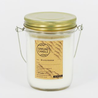 <SAIKUNG Candle> Natural Aromatherapy Candle - Black pepper (BLACK PEPPER SCENTED CANDLE)