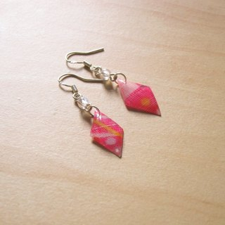 // 2nd use colorful accessories / jewelry cloth / fabric earrings