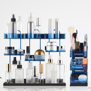 Goody Bag Magnetic Desktop Makeup Organizer - Package - Blue