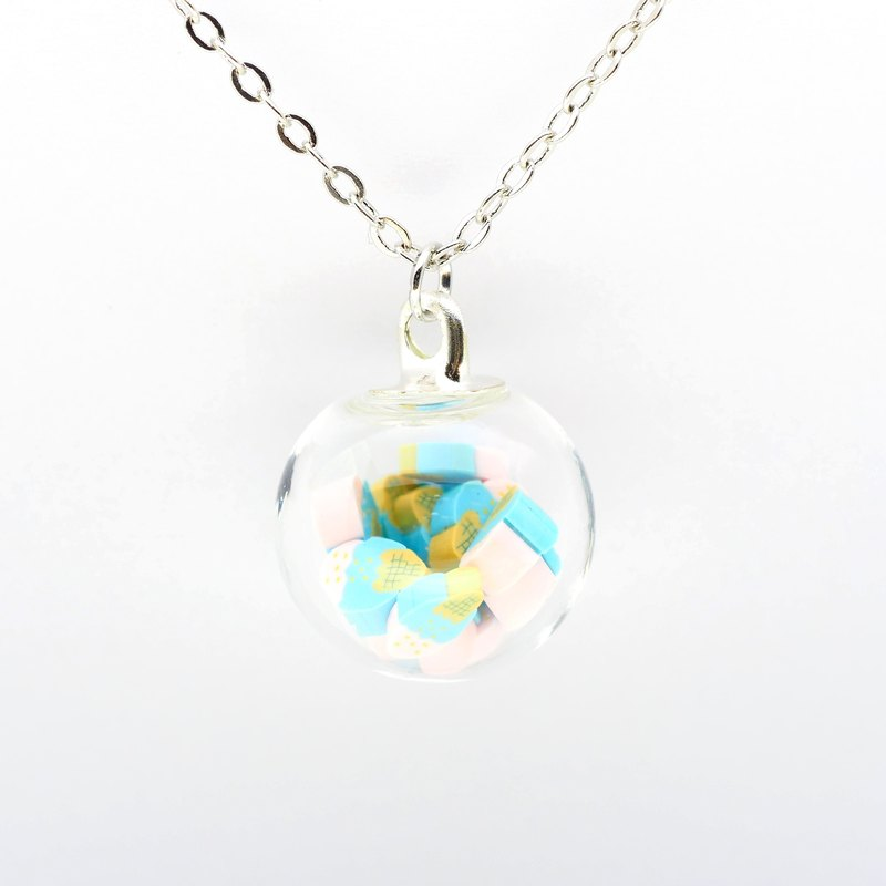「OMYWAY」Handmade Ice-cream Necklace - Glass Globe Necklace 1.4cm