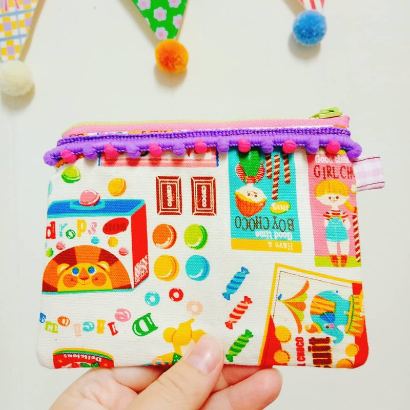 Candy Macaron Handmade Coin Purse Ticket Card Pack Small Bag