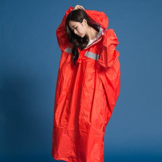 Peak backpack section half open raincoat - orange