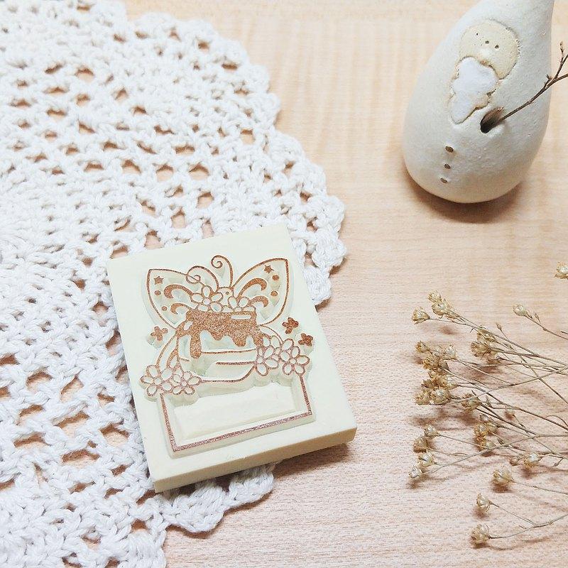 小動物框框Vol.2 - 小粉蝶  手刻印章 橡皮章