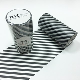 KAMOI mt CASA tape 100mm【Stripe - Black (MTCA1107)】