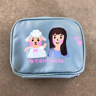 Customized hand-painted cosmetic bag new