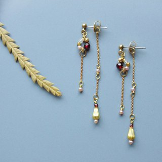 Clock - earring  clip-on earring