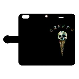 [Handbook type iPhone case] Creepy ice cream 2