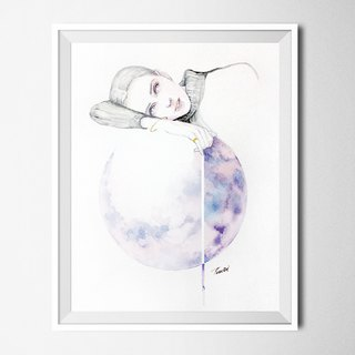 Nordic wind hand painted pencil watercolor painting NO.12 murals / home furnishings / interior design