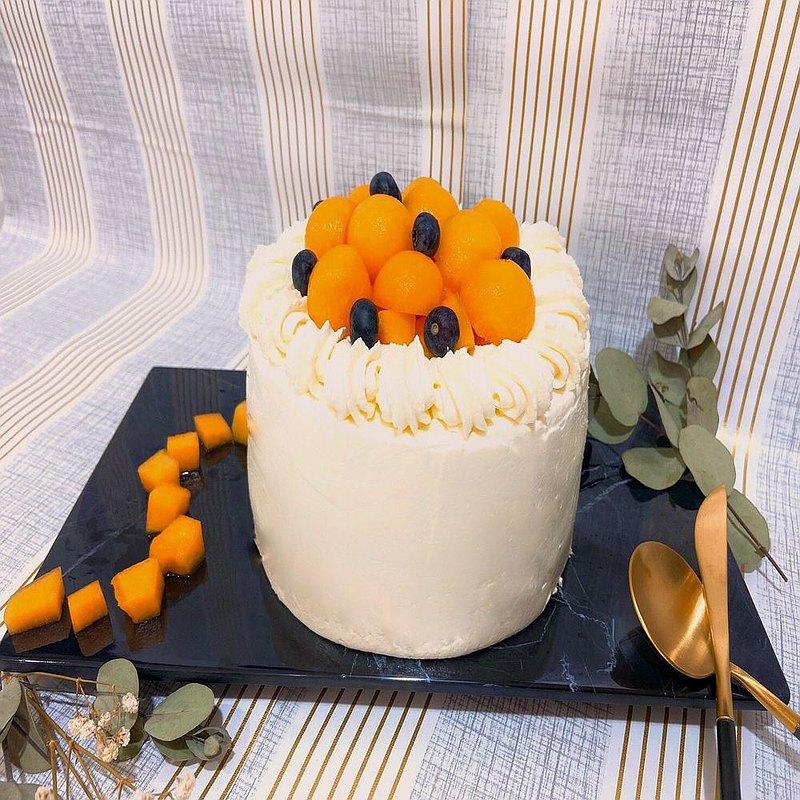 水果起司香緹蛋糕。新鮮手做。安心出貨。陪伴你/妳的防疫時光