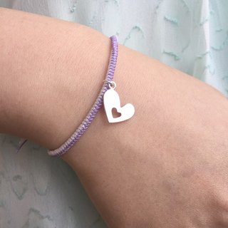 Silver Heart String Bracelet | Love Bracelet | Heart Strings Bracelet | Love