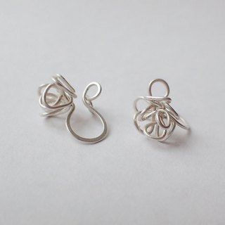 Lightup workshop - Poppy & sprout earrings, 0.7MM-Fine silver wire