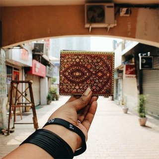 Supervek Ornamental Handcrafted Paper Wallet / Wallet / Short Clip Tyvek Waterproof Material Waterproof Tearproof