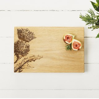 Taiwan's exclusive agent - British Scottish Oak boutique kitchen oak forming super thick solid wood chopping board / plate / display board (flowers)-Gifts recommended