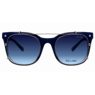 Optical glasses with front-mounted sunglasses | Sunglasses | Blue styling | Made in Taiwan |