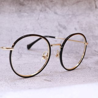 Micro thick line retro black frame glasses lens frame glasses optical safety lens nano blue lens