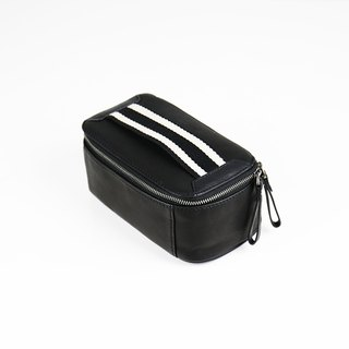 Suite handsome sports style leather makeup small square bag