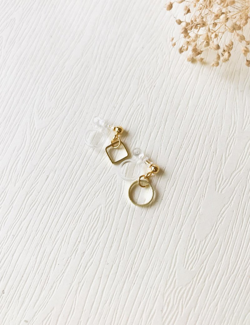 Small Hanging Clip Earrings Unilateral Can Mix And Match